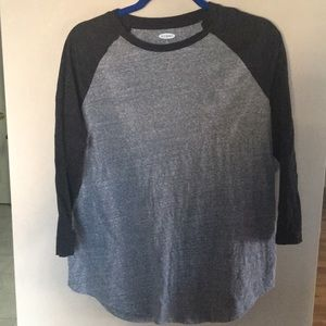 Large Grey Old Navy baseball t